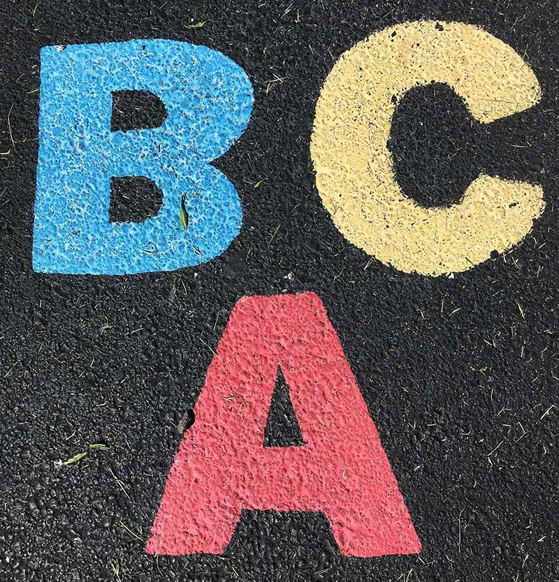 Slova azbuke BCA